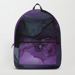 Abstract Ink Painting Deep Purple Green Backpack