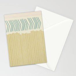 Hand drawn lines in Pink, Teal, and Mustard Stationery Cards