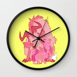 Gut Wretched Goat - Pink Wall Clock