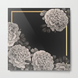 Flowers on a winter night Metal Print