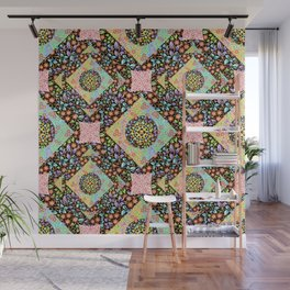 Boho Chic Patchwork Wall Mural