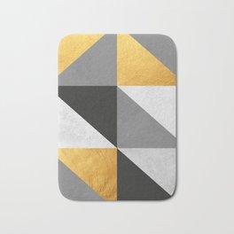 Gray and gold texture I Bath Mat