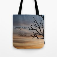 literary Tote Bags featuring Waiting for Godot, Samuel Beckett – literary art by pennyprintables