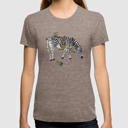Mellow Yellow African Zebras - Bagaceous T-shirt