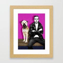 Ryan Gosling and friend Framed Art Print