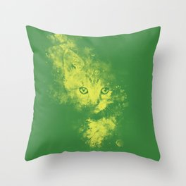 abstract young cat wsgy Throw Pillow