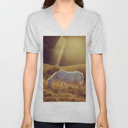 Pony grazing Unisex V-Neck