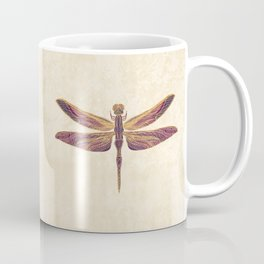 Art Nouveau Dragonfly In Purple Coffee Mug