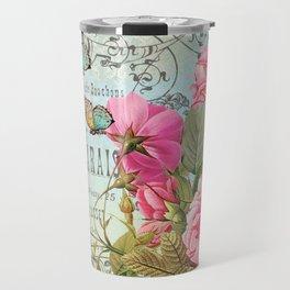 Vintage Flowers #3 Travel Mug
