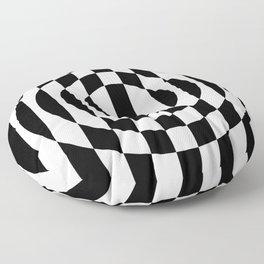 Hot Spot    Black & White Floor Pillow