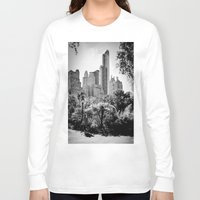 central park Long Sleeve T-shirts featuring Central Park by Petra Heitler