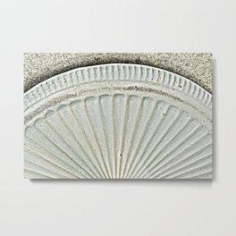 Scalloped Metal Print