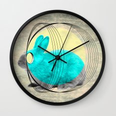 hypnotic rabbit Wall Clock