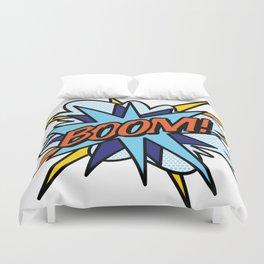 BOOM Comic Book Flash Pop Art Cool Fun Graphic Typography Duvet Cover
