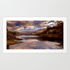 Big Sky over the Valley Art Print