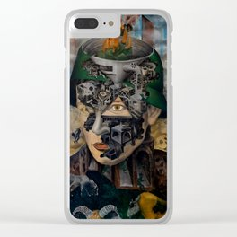 Contemporary war Clear iPhone Case