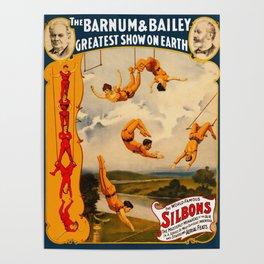Vintage Barnum & Bailey Circus - Trapeze Poster