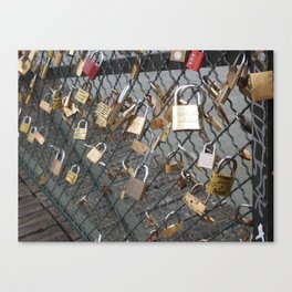 Love Locks in Paris Canvas Print