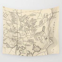 Vintage Map of Hampton Beach NH (1892) Wall Tapestry