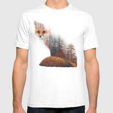 Misty Fox White MEDIUM Mens Fitted Tee