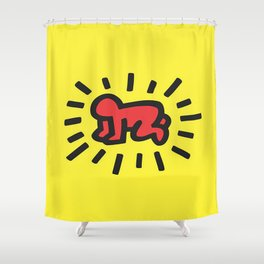 Inspired to Keith Haring Shower Curtain