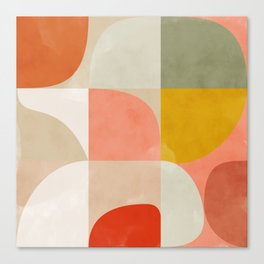 shapes of mid century abstract art Canvas Print