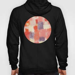 City Sunset Geometric Abstract Painting Hoody
