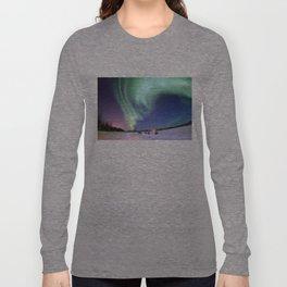 Northern Lights of Alaska Photograph Long Sleeve T-shirt