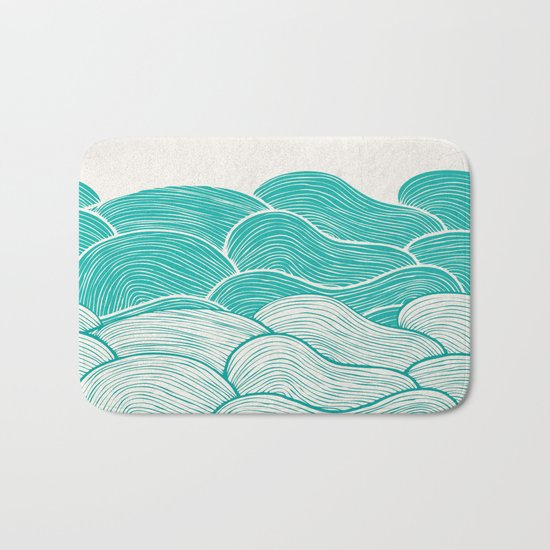 The Calm and Stormy Seas Bath Mat