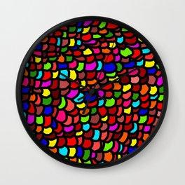Rainbow Rowdy Wall Clock