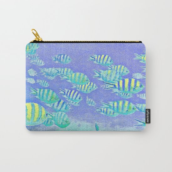 Pastel Fish Carry-All Pouch