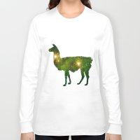 llama Long Sleeve T-shirts featuring Llama by Lucas de Souza