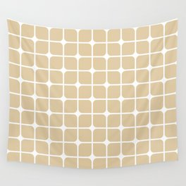 Modern Cubes - Gold + Teal Wall Tapestry