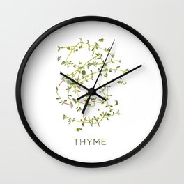 Watercolor Thyme Artwork Wall Clock