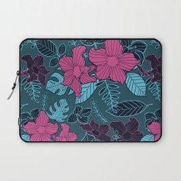Modern Bold Jungle Floral Pattern Memphis Style Laptop Sleeve