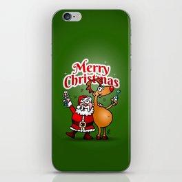 Merry Christmas - Santa Claus and his Reindeer iPhone Skin