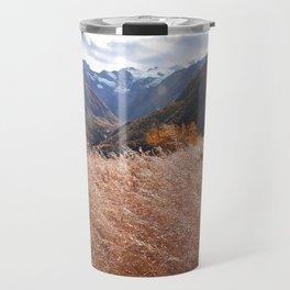 Gold autumn landscape in mountain Travel Mug