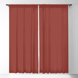 Solid Chili oil pantone Blackout Curtain