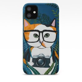 The Calico Photographer Cat iPhone Case