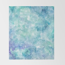 Blue Watercolor Background Throw Blanket