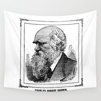 darwin Wall Tapestries featuring Charles Robert Darwin by Bramble & Posy