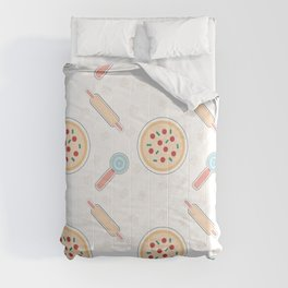 Lets make a pizza Comforters