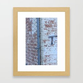 Just another brick wall with Graffiti  Framed Art Print