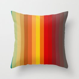 Funky Colored Strips Trending Pattern Throw Pillow