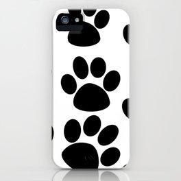 Puppy Paws Black iPhone Case