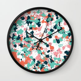 Freestyle Paint Cool Colors Wall Clock