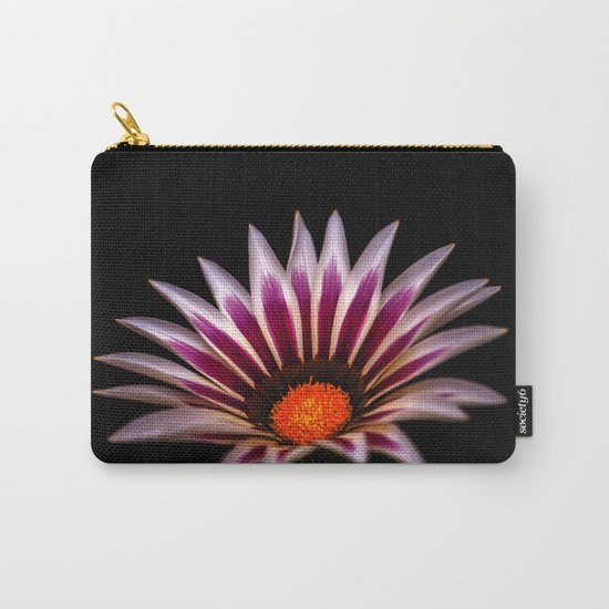 Big Kiss White Flame Flower Carry-All Pouch