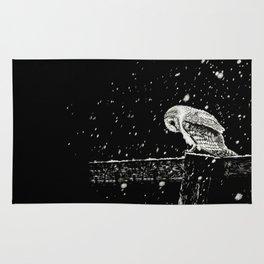 Snowfall at Night (Owl) Rug