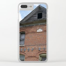 Red Brick Dreams Clear iPhone Case