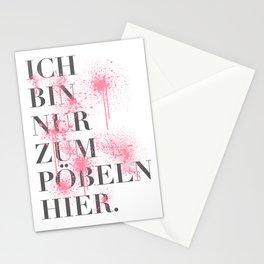 Pöbeln Stationery Cards